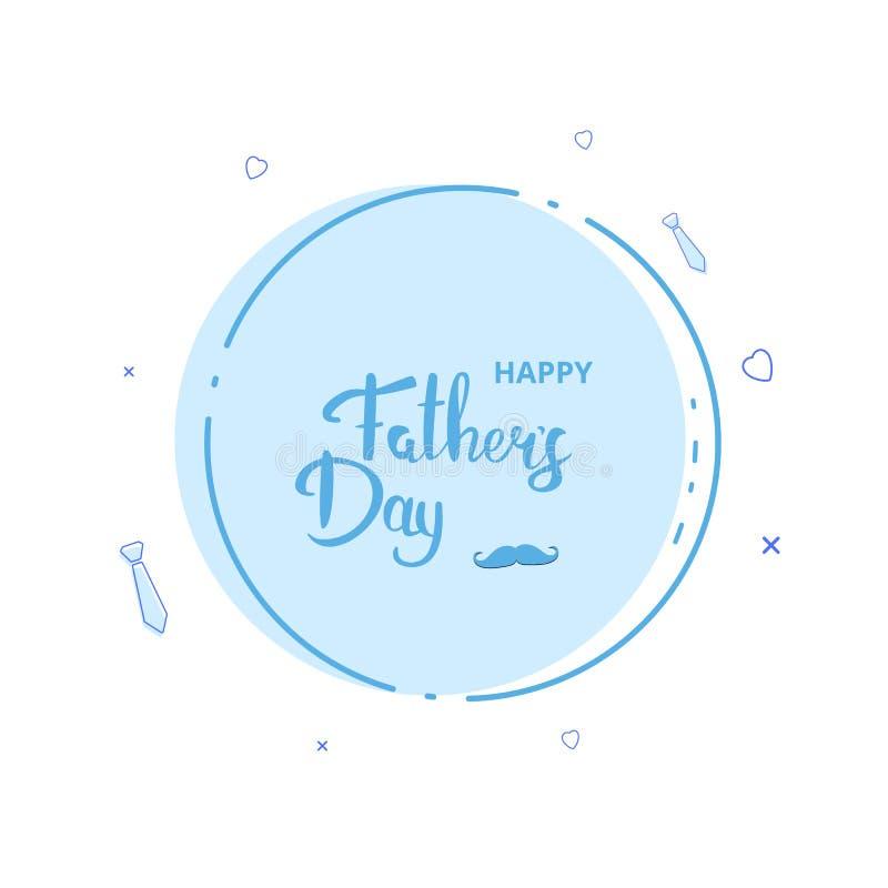 De gelukkige kaart van de vader` s dag Vector illustratie vector illustratie