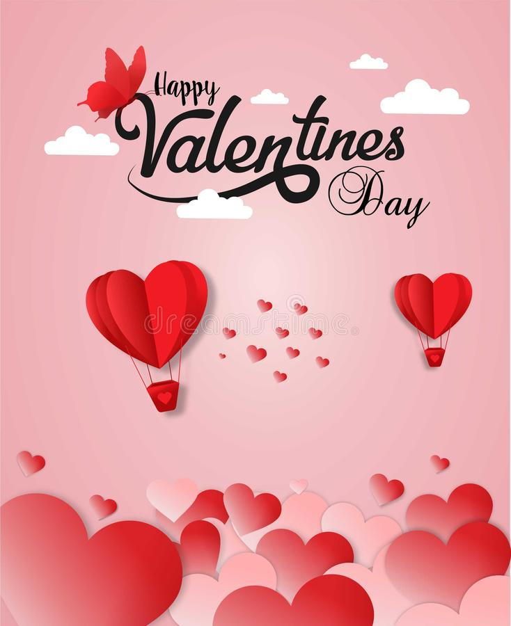 De gelukkige kaart van de valentijnskaartendag royalty-vrije stock fotografie