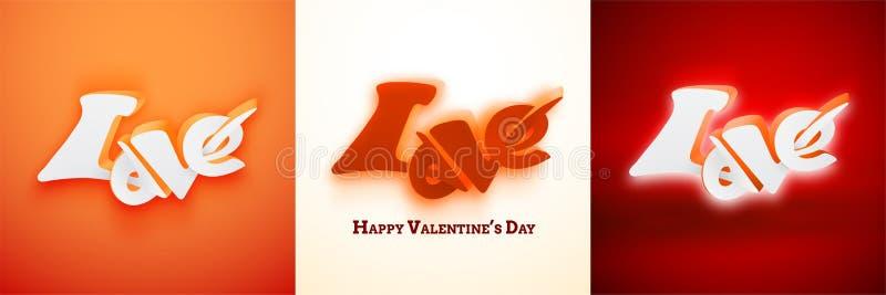 Download De Gelukkige Kaart Van De Valentijnskaartendag Vector Illustratie - Illustratie bestaande uit schitter, lettering: 114227440