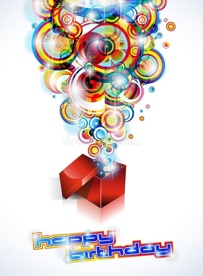 De gelukkige Kleurrijke Achtergrond van de Verjaardag stock illustratie
