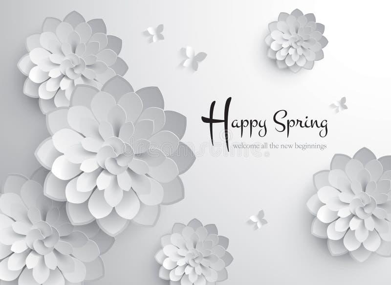 De gelukkige lente Vectordocument Grafisch van Bloesem royalty-vrije illustratie