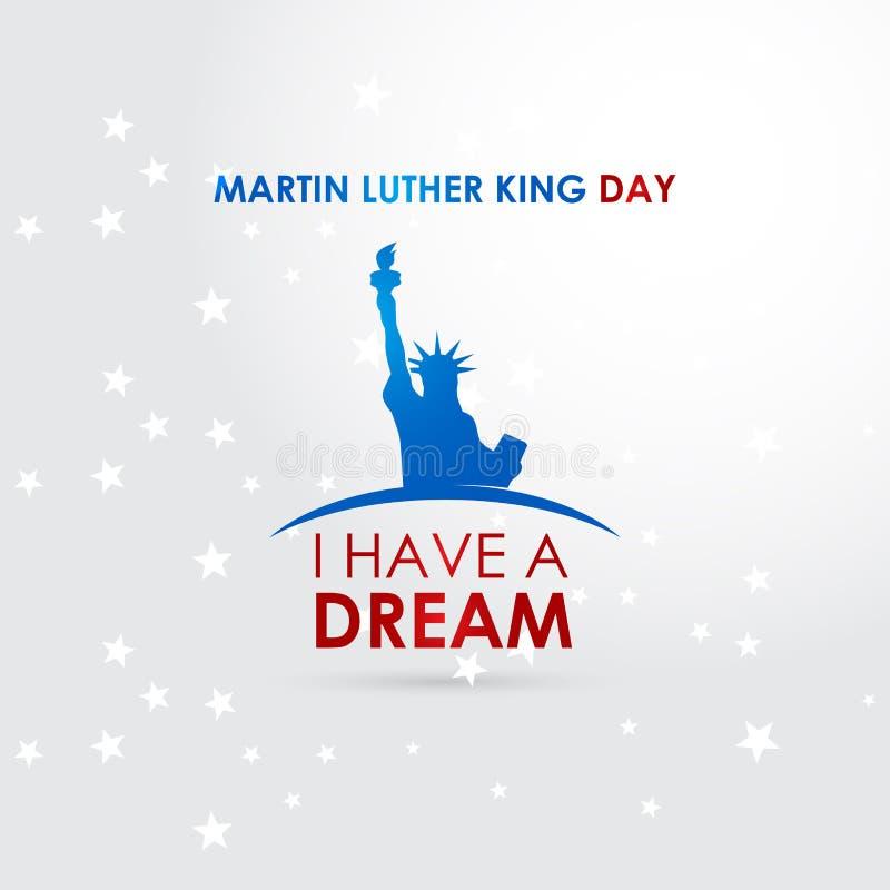 De gelukkige Martin Luther King-vector van het dagontwerp stock illustratie
