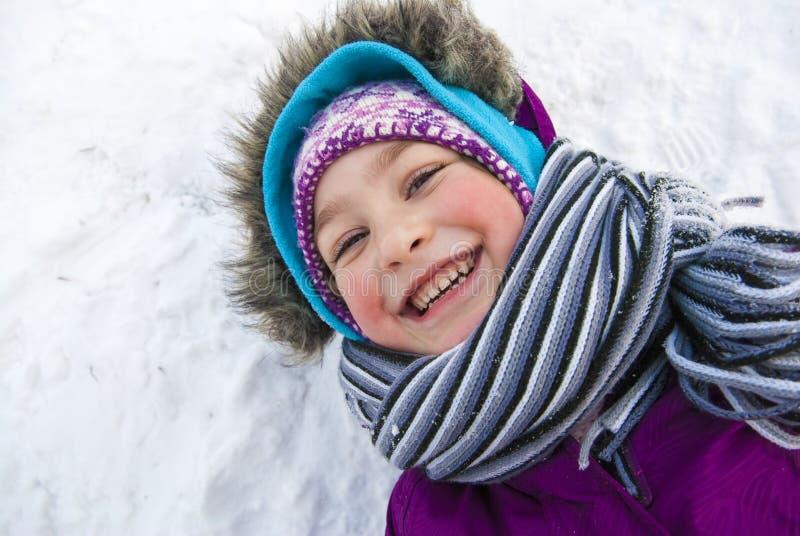 De gelukkige Meisjeswinter stock foto's
