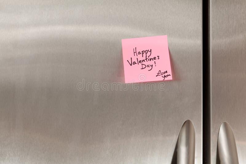 De gelukkige Nota van de Dag van Valentijnskaarten royalty-vrije stock foto's
