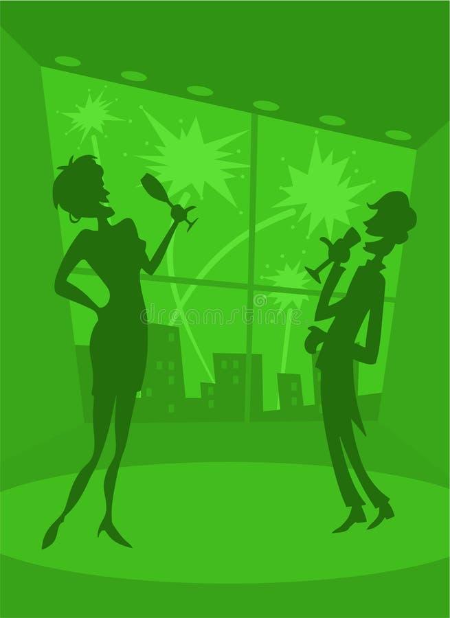 De gelukkige Partij van het Nieuwjaar royalty-vrije illustratie