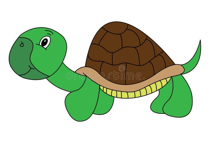 De gelukkige Schildpad van het Beeldverhaal royalty-vrije stock afbeeldingen
