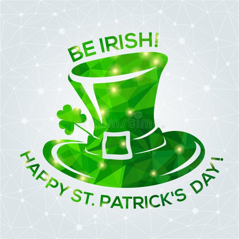 De gelukkige St Patrick kaart van de Daggroet royalty-vrije illustratie