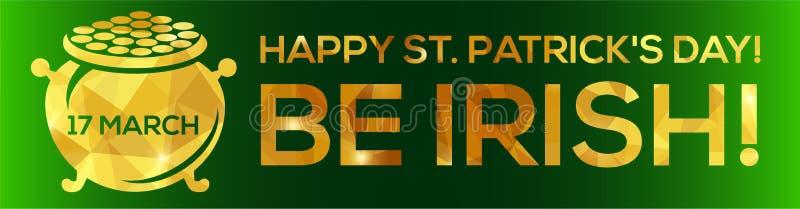 De gelukkige St Patrick kaart van de Daggroet stock illustratie