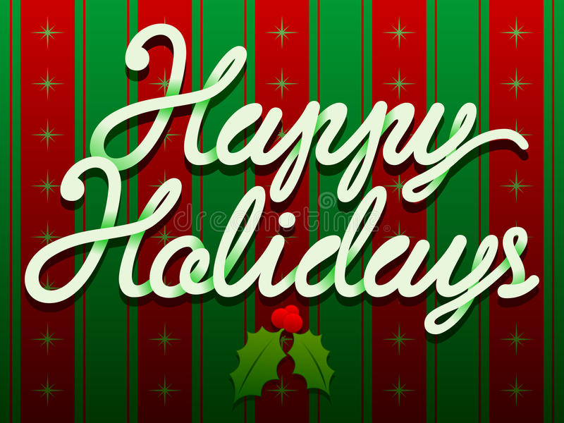 De gelukkige Tekst van Kerstmis van de Vakantie vector illustratie