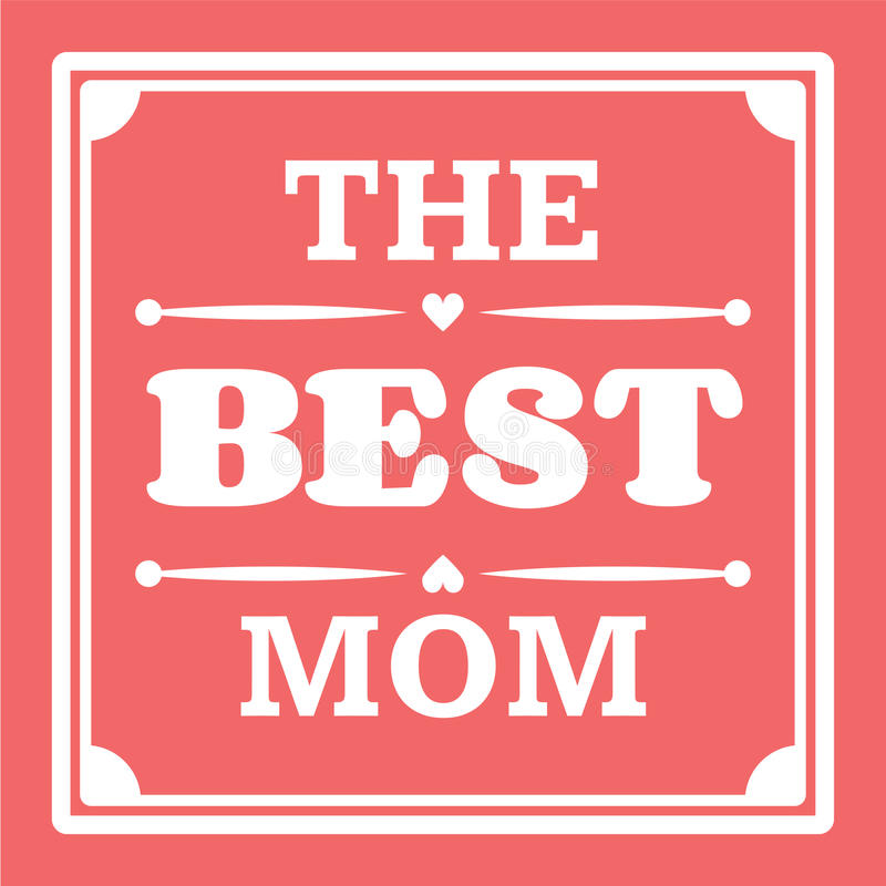 De gelukkige typografische illustratie van de Moedersdag De beste moeder in de kaart van de wereldgift vector illustratie