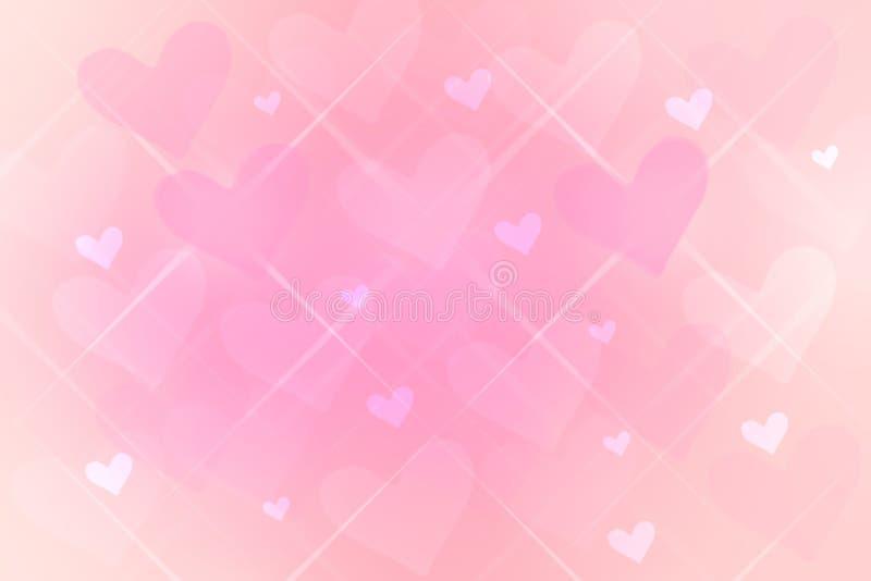 De gelukkige Valentijnskaarten of achtergrond van de huwelijksdag De abstracte roze achtergrond van de liefde romantische vakanti stock illustratie