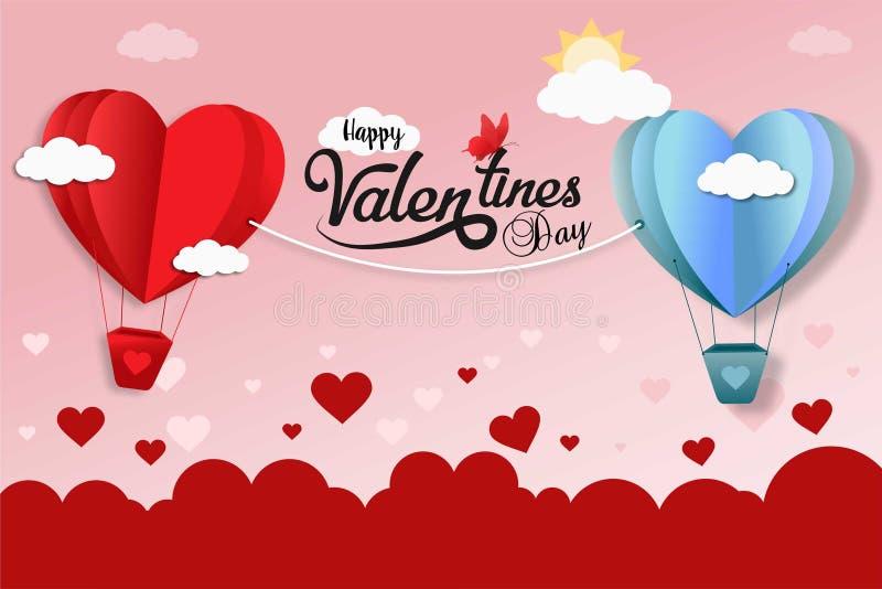 De gelukkige Valentijnskaarten ontwerpen royalty-vrije stock afbeeldingen