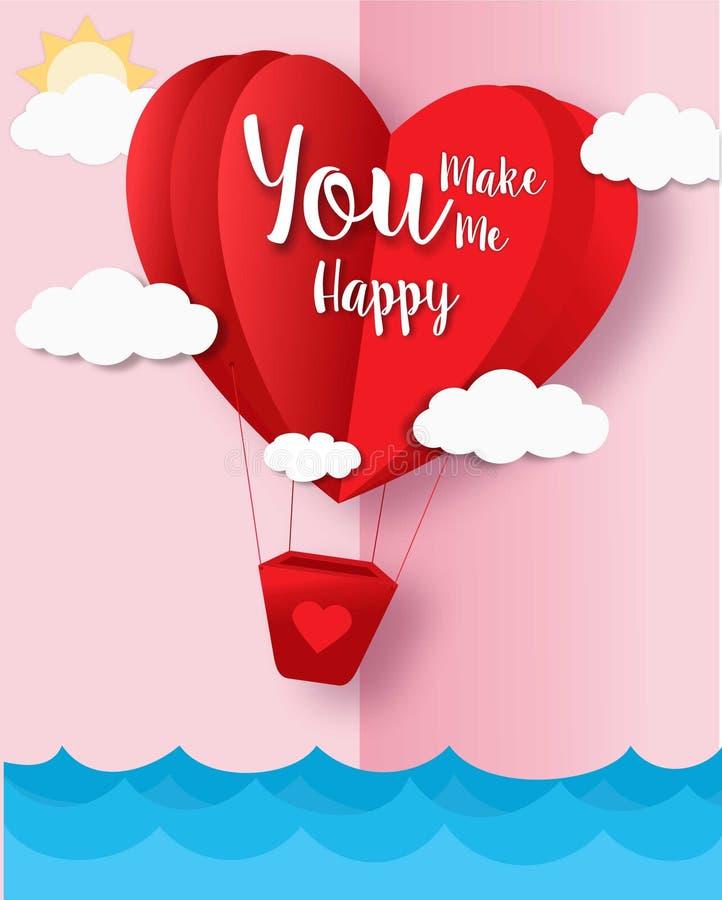 De gelukkige Valentijnskaarten ontwerpen kaart Vlakke achtergrond royalty-vrije stock foto's
