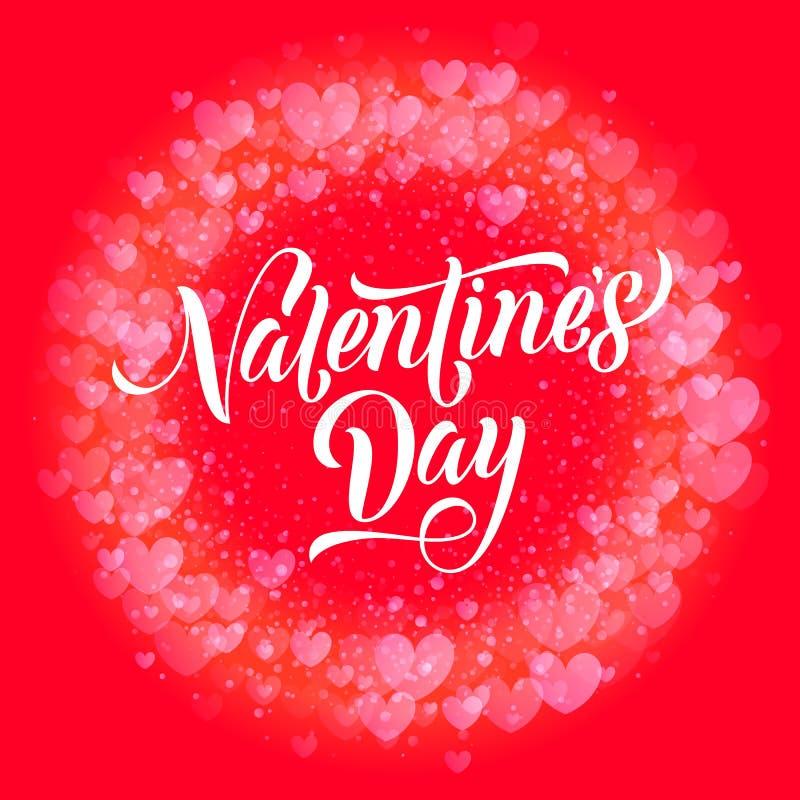 De gelukkige Valentine-kaart van de het patroongroet van dag gouden harten vector illustratie