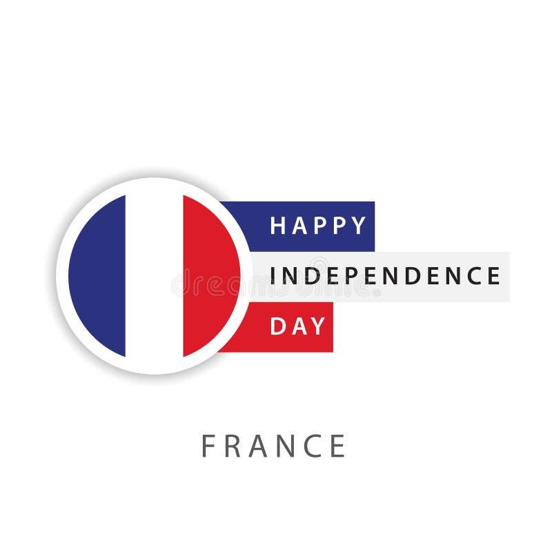 De gelukkige van de de Onafhankelijkheidsdag van Frankrijk Illustrator van het het Malplaatjeontwerp Vector royalty-vrije illustratie