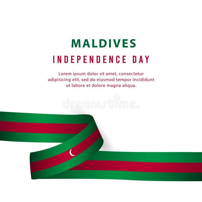 De gelukkige van de de Onafhankelijkheidsdag van de Maldiven van de de Vieringsaffiche Illustratie van het het Malplaatjeontwerp  stock illustratie