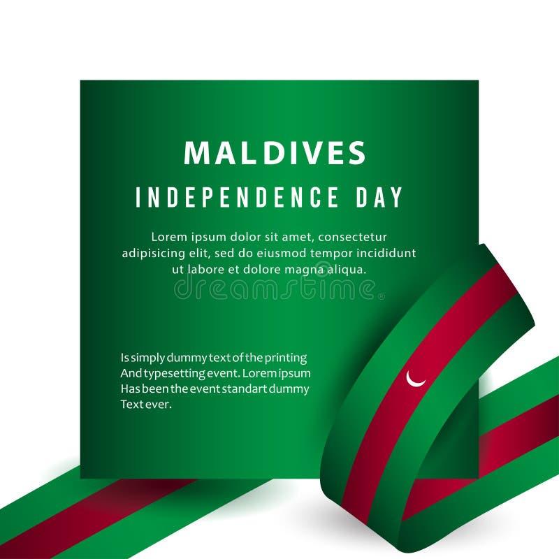 De gelukkige van de de Onafhankelijkheidsdag van de Maldiven van de de Vieringsaffiche Illustratie van het het Malplaatjeontwerp  vector illustratie