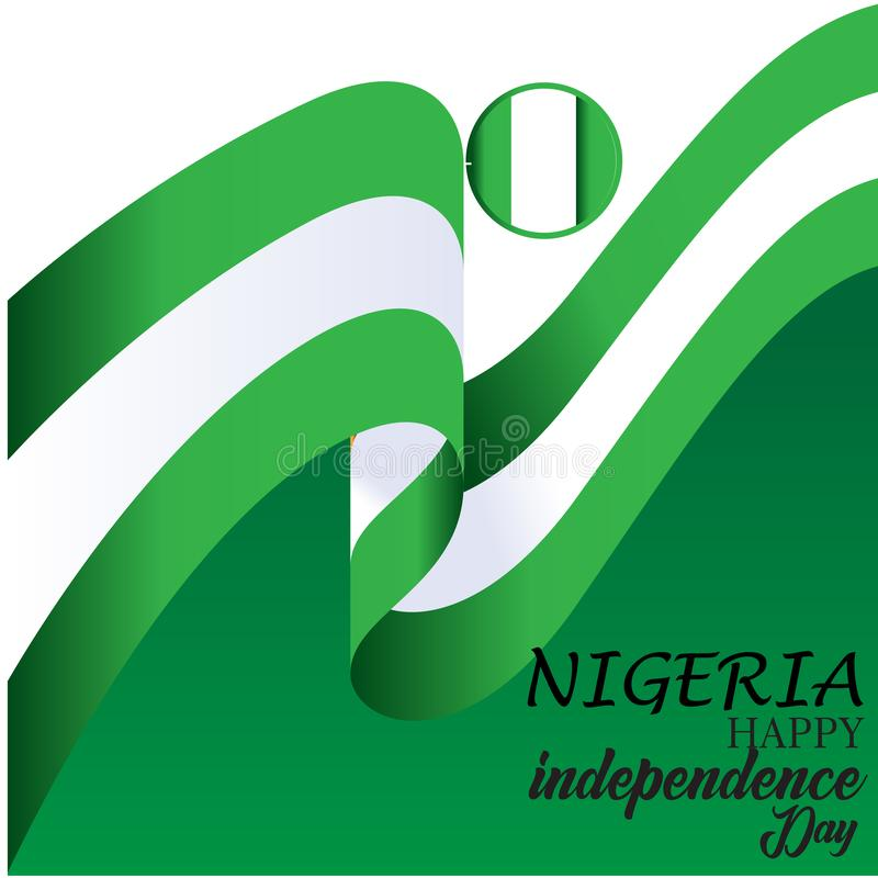 De gelukkige van de de Onafhankelijkheidsdag van Nigeria Illustratie van het het Malplaatjeontwerp Vector vector illustratie