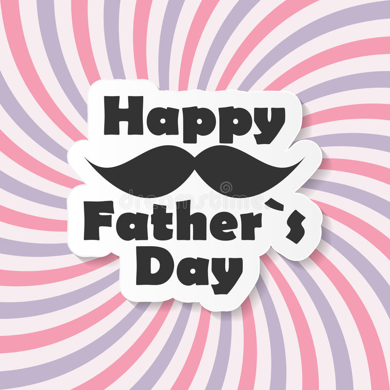 De gelukkige Vectorillustratie van Vaderday poster card vector illustratie