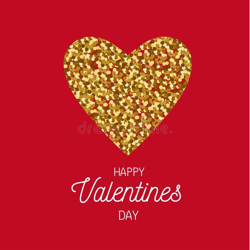 De gelukkige vectorprentbriefkaar van de Valentijnskaartendag, banner, affiche, achtergrondconcept royalty-vrije illustratie