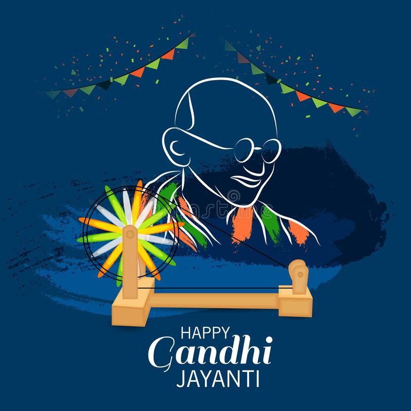 De gelukkige Viering van Gandhi Jayanti royalty-vrije illustratie