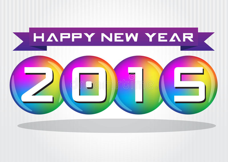 De gelukkige viering van het Nieuwjaar stock fotografie