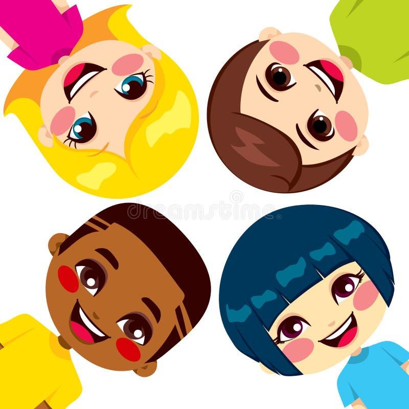 De gelukkige Vrienden van Kinderen vector illustratie
