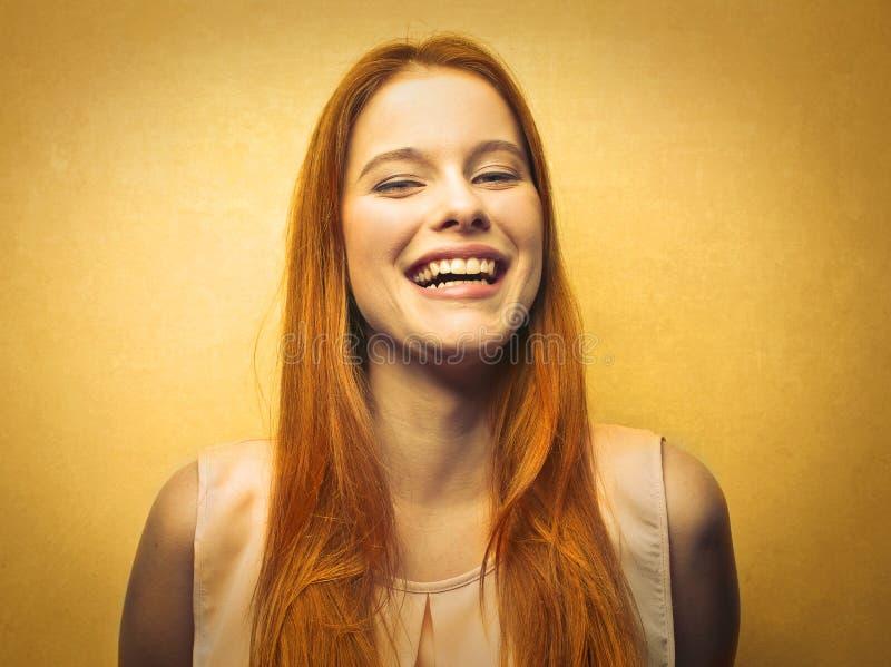 De gelukkige Vrouw van de Blonde stock foto