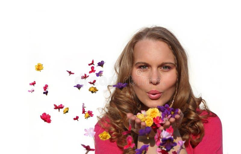 De Gelukkige Vrouw Van De Lente Of Van De Zomer Royalty-vrije Stock Fotografie