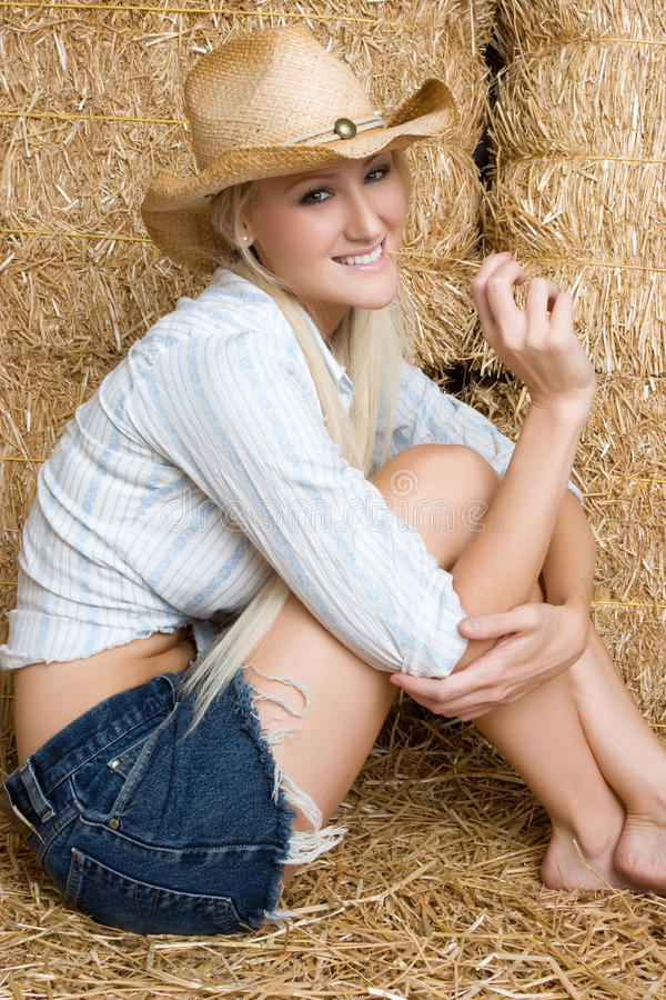 De gelukkige Vrouw van het Land stock afbeelding