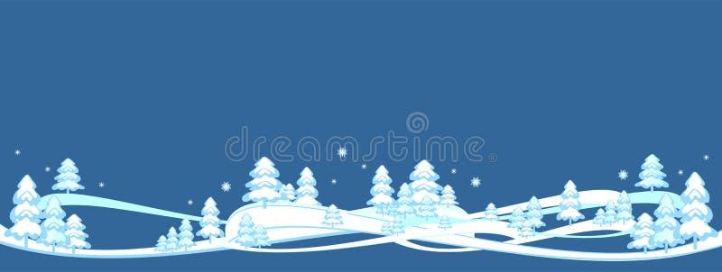 De gelukkige de winterachtergrond, banner, Vrolijke Kerstmis, nieuwe jaarboom, prentbriefkaar, patronen ontwerpt, nieuw, 2019 stock illustratie
