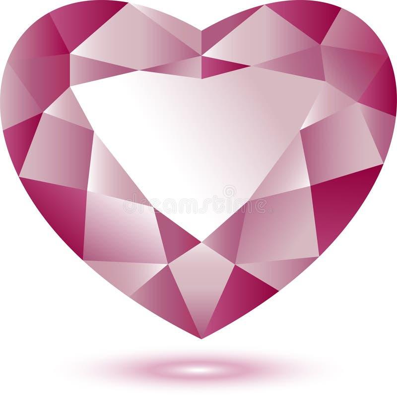 De gem van de hartvorm royalty-vrije illustratie