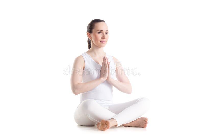De gemakkelijke yoga stelt royalty-vrije stock fotografie