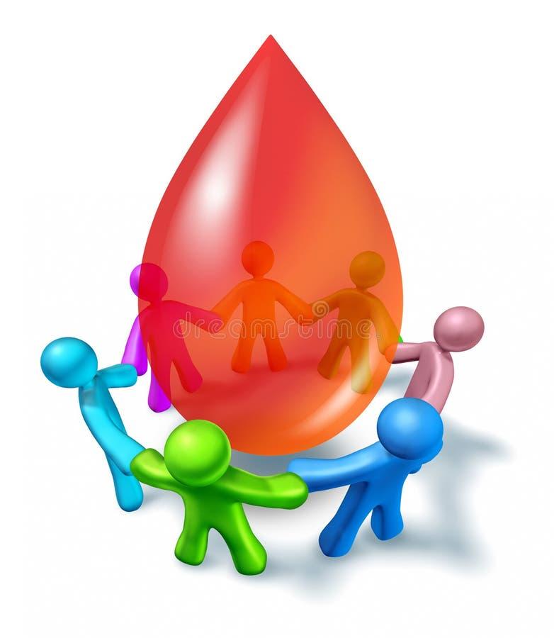De Gemeenschap van de Schenking van het bloed royalty-vrije illustratie