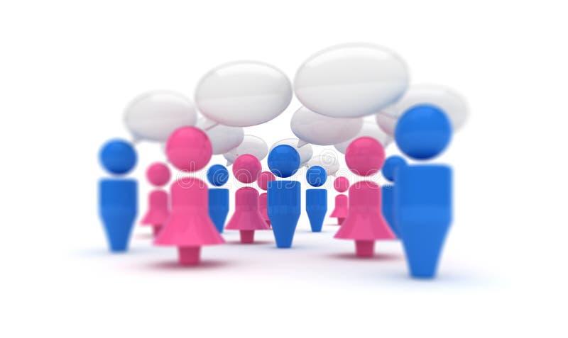 De gemeenschap van het praatje royalty-vrije illustratie