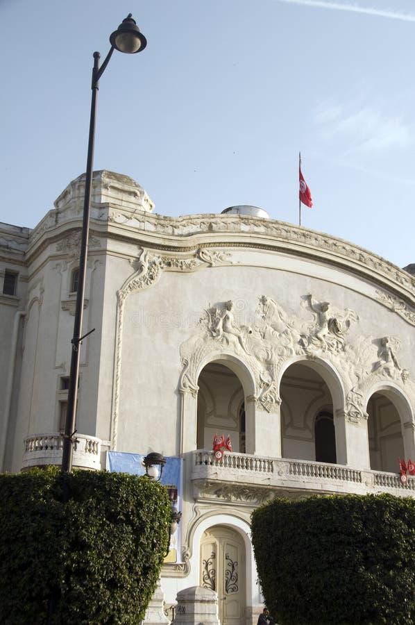 De gemeentelijke Weg Habib Bourguiba Turkije van het Theater stock foto