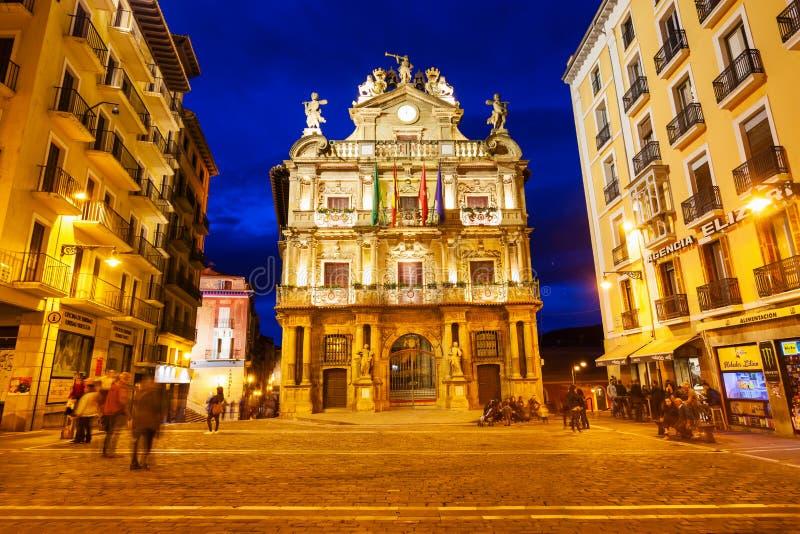 De GemeenteraadStadhuis van Pamplona royalty-vrije stock fotografie