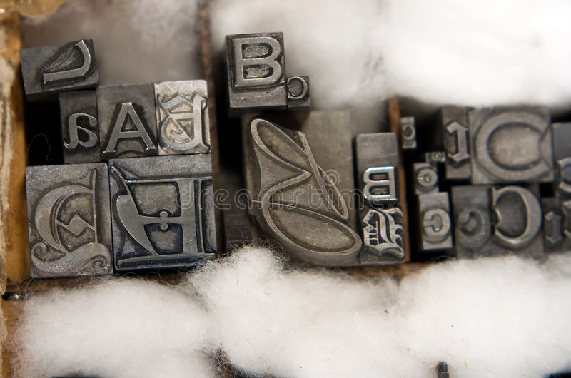 De gemengde Blokken van het Type van Letterzetsel stock afbeeldingen