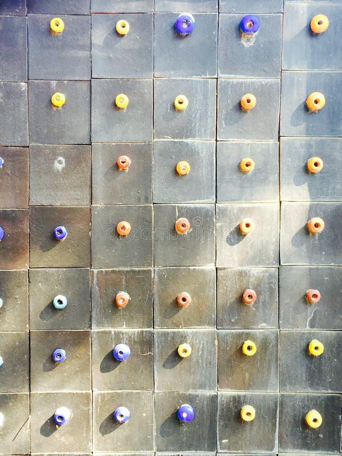 de gemengde kleurrijke en tegels van de het patroonmuur van de groottepunt royalty-vrije stock afbeeldingen