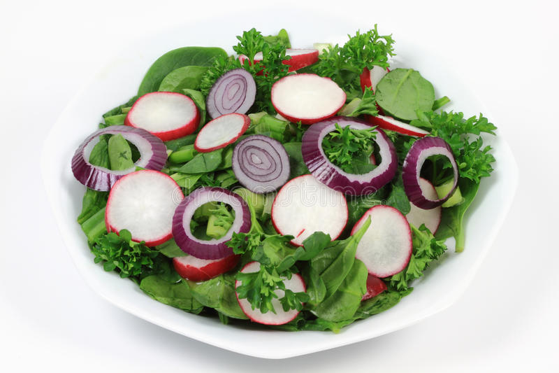 De gemengde Organische Salade van de Spinazie van de Baby. stock foto's