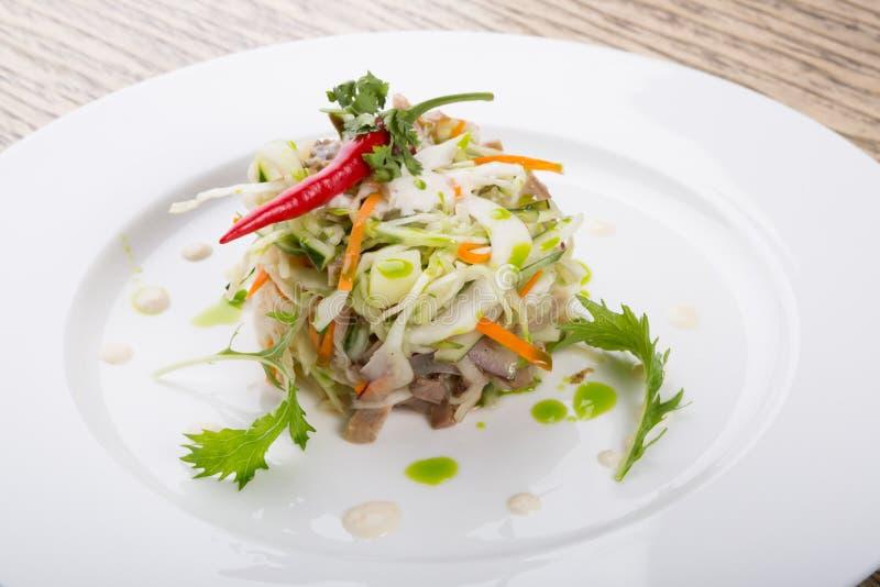 De gemengde salade van de groentenkool stock afbeelding