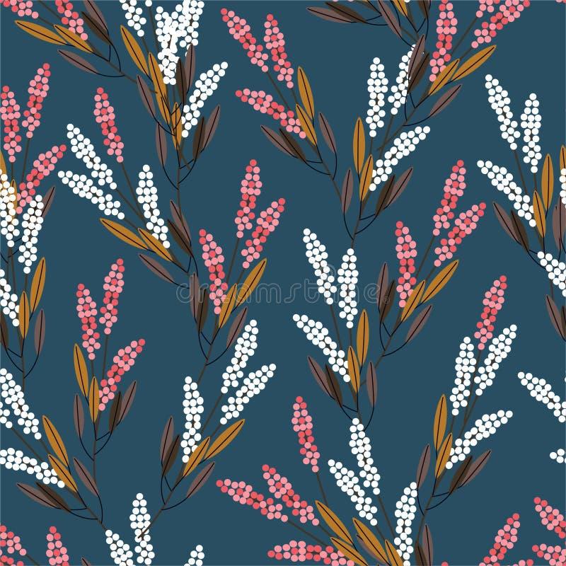 De Gemetricweide bloeit het naadloze ontwerp van de patroon moderne stijl voor manier, stof, drukken, Web, behang, en alle drukke vector illustratie