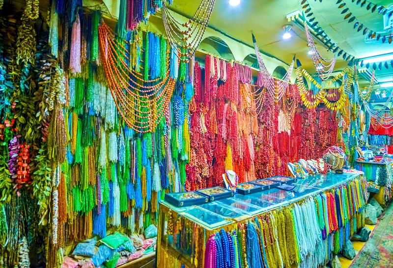 De gemwinkel in centrum van Kaïro, Egypte stock foto