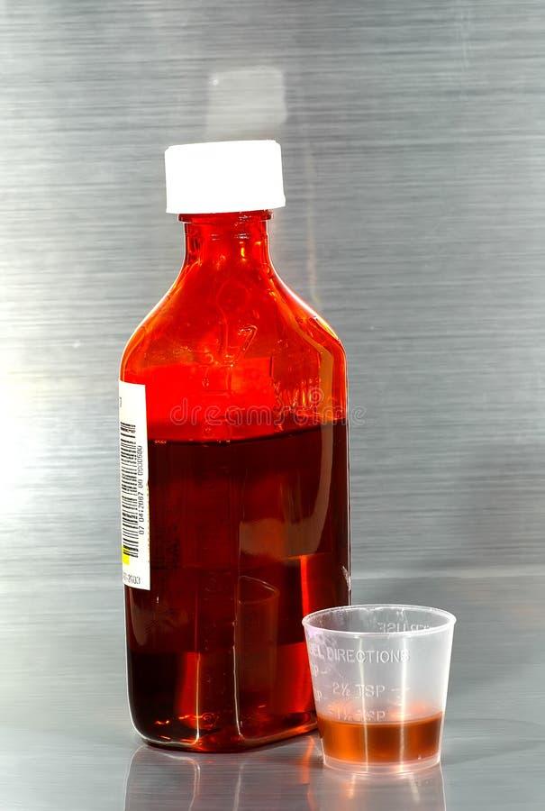De Geneeskunde van de hoest stock foto's