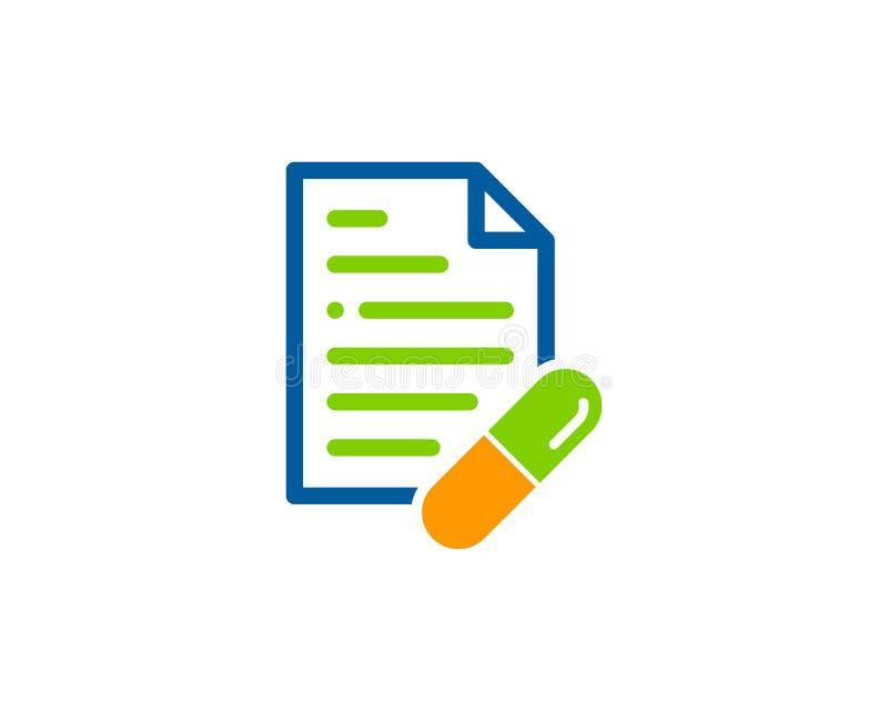 De Geneeskundepictogram Logo Design Element van het documentdossier stock illustratie