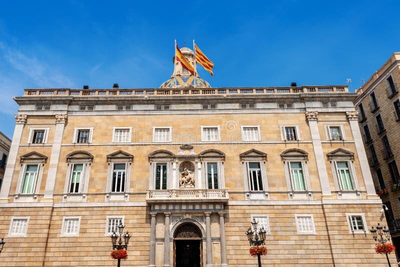 Παλάου de Λα Generalitat de Catalunya - Βαρκελώνη Ισπανία στοκ φωτογραφία με δικαίωμα ελεύθερης χρήσης