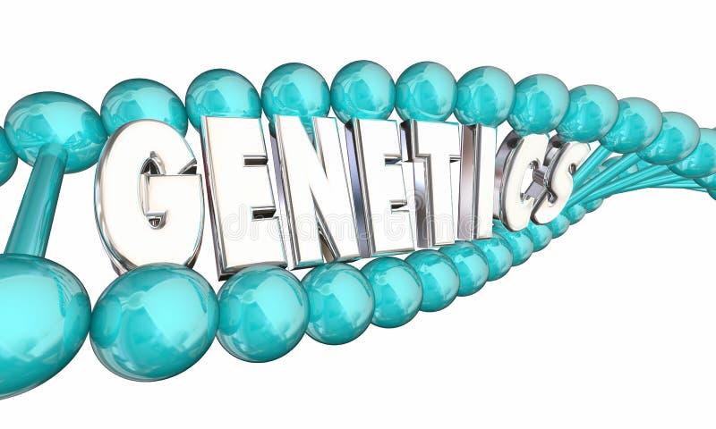 De Generaties van de de Erfelijkheidsfamilie van geneticadna vector illustratie