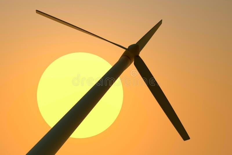 De generator van de wind vector illustratie