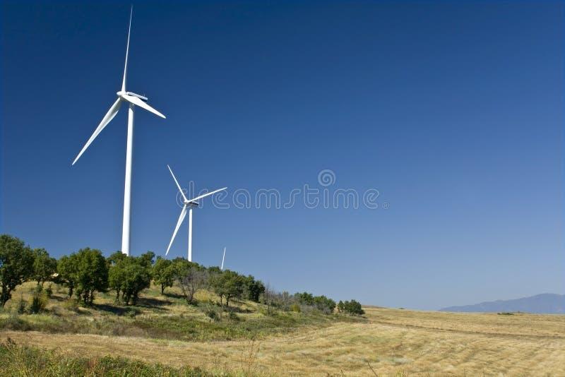 De generators van de stroomwind royalty-vrije stock foto