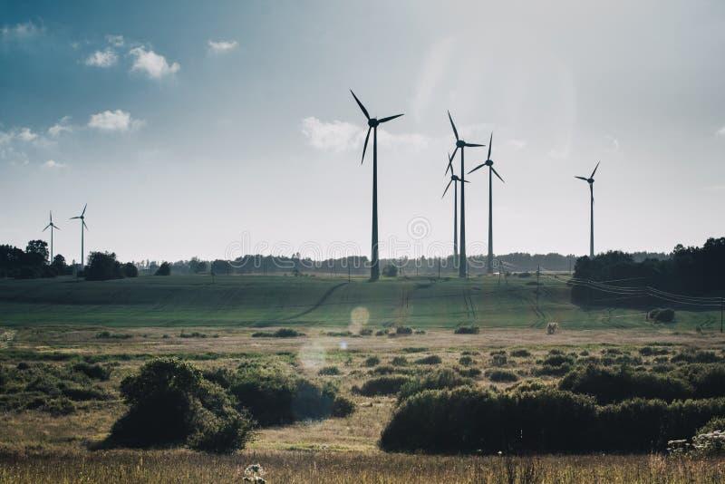 De Generators van de wind, Ecologie royalty-vrije stock foto's